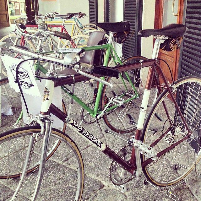 Una Cavenago vintage con le bici #Ciclografica #graphic #type #vintage #bike #bici #retro