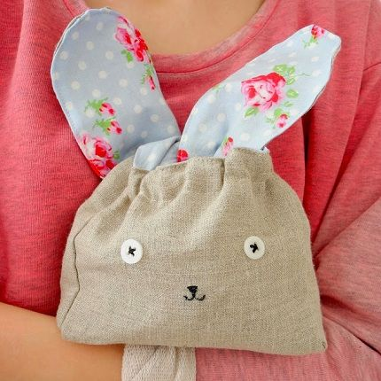 Tutorial: Floppy-eared bunny bag: Crafts Ideas, Easter, Sewing Projects, Bags Tutorials, The Perfect, This Is, Zu Ostern, Bunnies Bags, Sewing Patterns