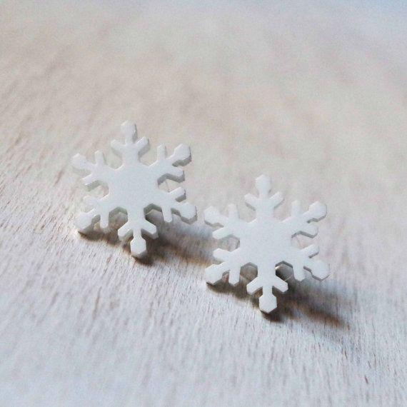 Orecchini cristallo di neve moda invernale di DARQCREATIONS
