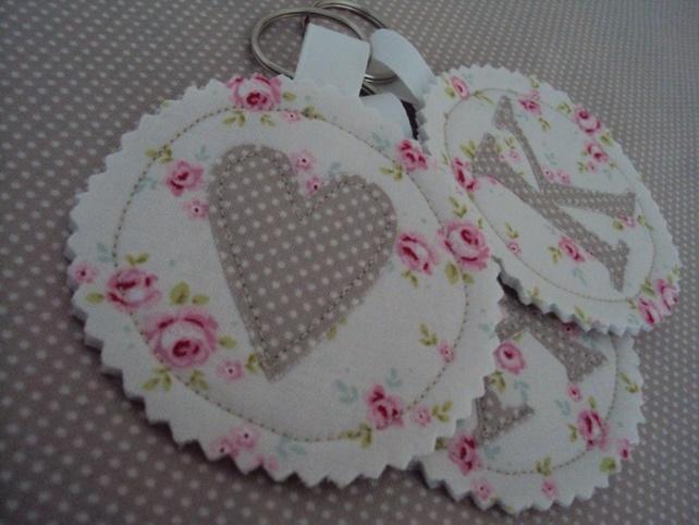 Fabric 'heart' keyring £3.50