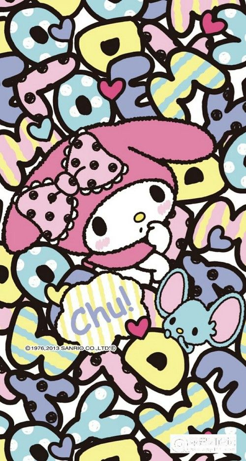Imagem de my melody, sanrio, and wallpaper