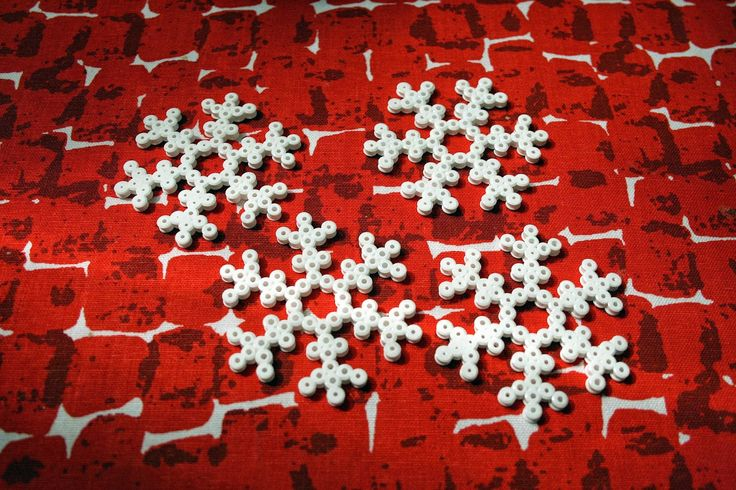 Hama bead snowflakes for christmas