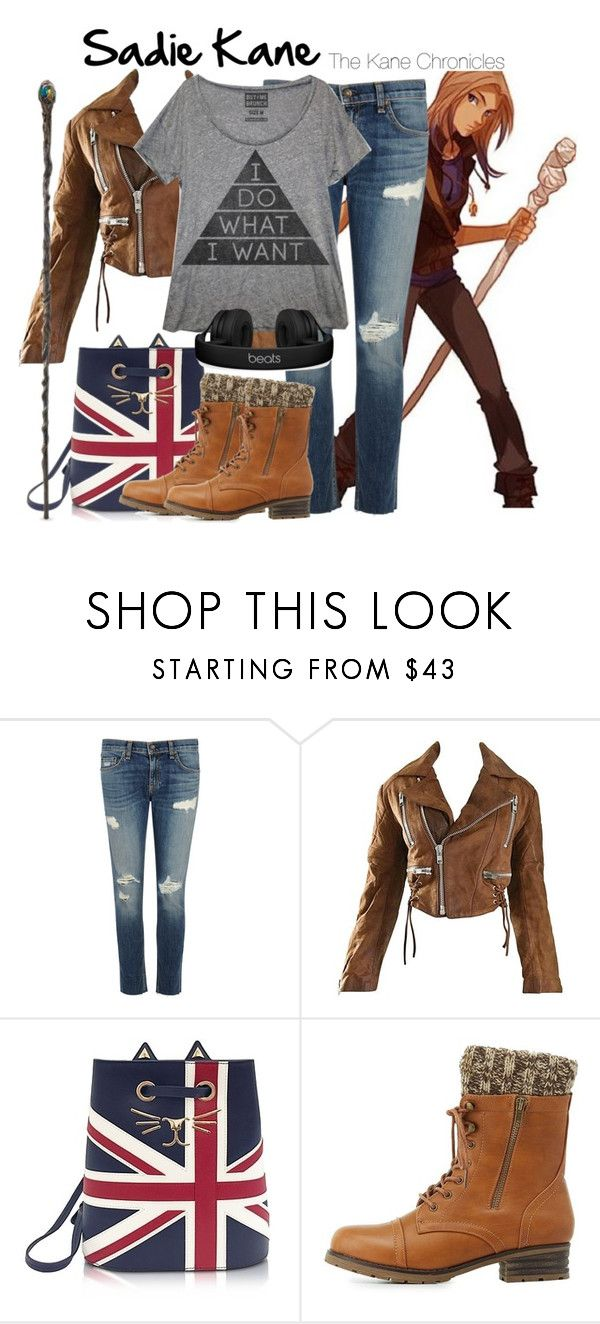 """""""Sadie Kane   The Kane Chronicles"""" by artist-demigod ❤ liked on Polyvore featuring rag & bone/JEAN, Charlotte Olympia, Charlotte Russe and Beats by Dr. Dre"""