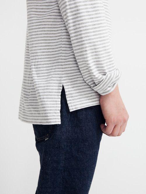 Stripes, loose fit skinny jeans