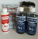 The Sampler 5--2 finish rejuvenator for your wood, the brass and copper cleaner and silver plus and a 12 pack of the #0000 steel wool applicators.  A great savings too.