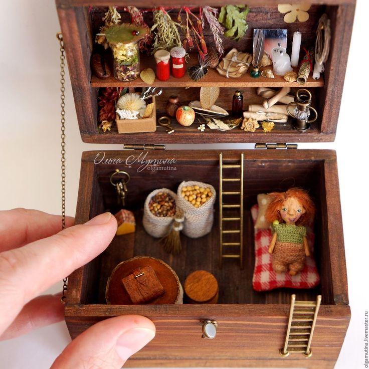 Micro house toy |  Купить Сундук-кладовочка в интернет магазине на Ярмарке Мастеров