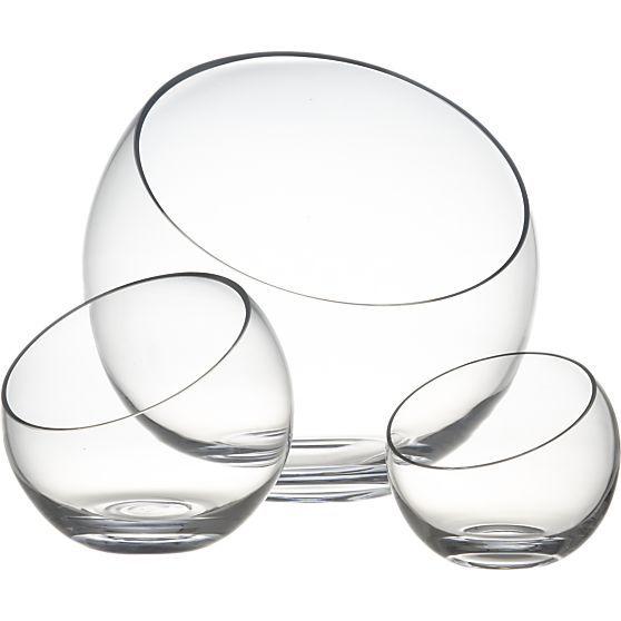 "Tilt 5.5"" Small Bowl in Serving Bowls | Crate and Barrel  terraniums"