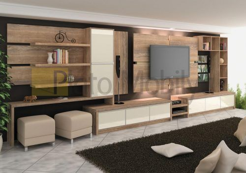 Oturma odanız genişse televizyonunuzun bulunduğu duvarı bu modern ünitemizle hareketlendirirken diğer dijital cihaz ve süs eşyalarınızı da düzenli şekilde muhafaza edebilirsiniz. Daha çok modern dekora sahip evler için uygun olan duvar ünitemiz odanızın duvar renk ve ölçülerine uygun şekilde üretilebilmektedir. #tvünitesi #mobilya #dekorasyon #salondekorasyon