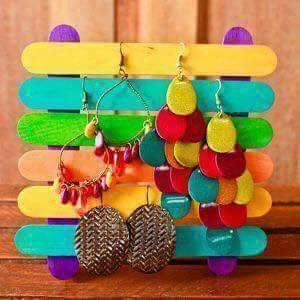 #Ice cream sticks Super easy# ear ring stand