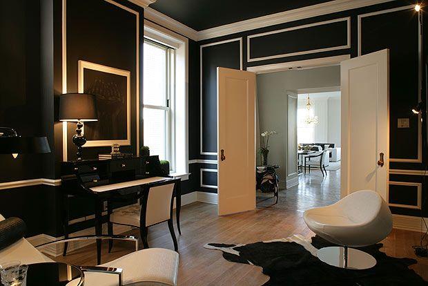 Versace Home Interior Design Black White Office Pinterest Versace Interiors And White