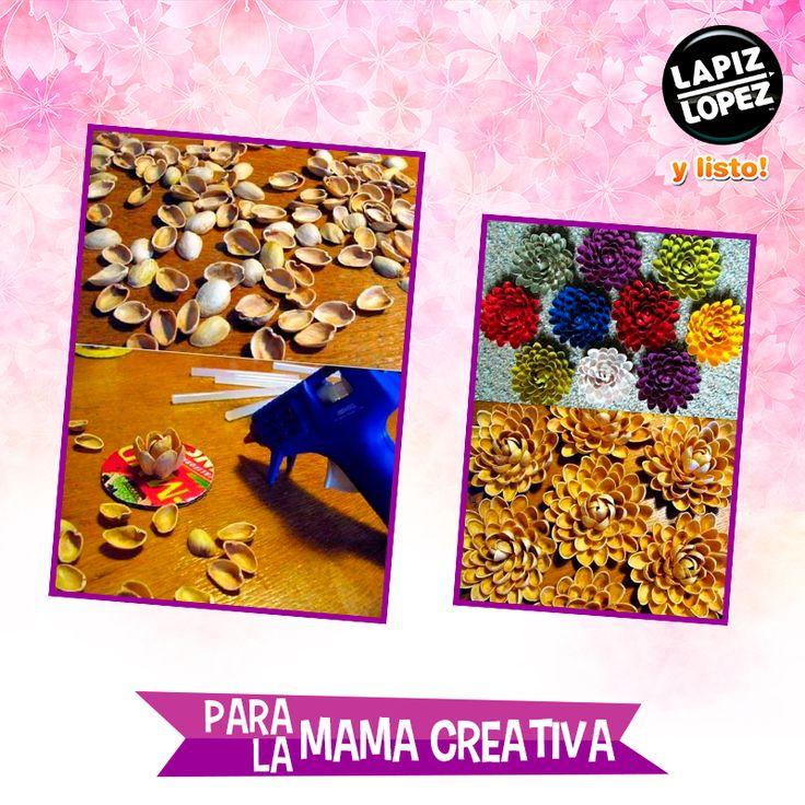 ¡Utiliza las conchitas de mar para armar flores que no necesitan regarse para verse radiantes!