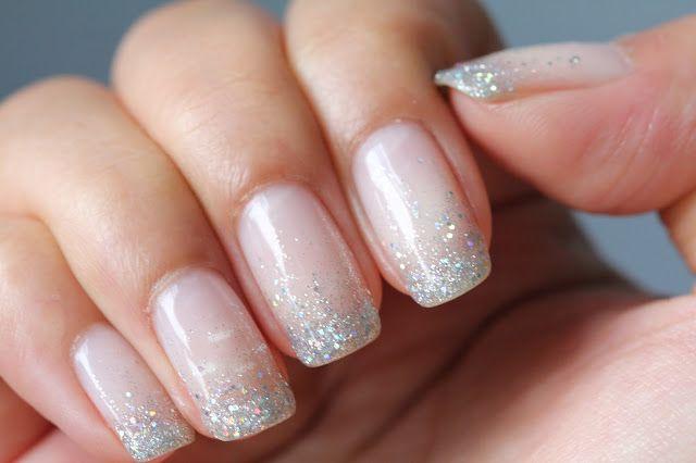 Glitter Waterfall Shellac Nails - LOVE!