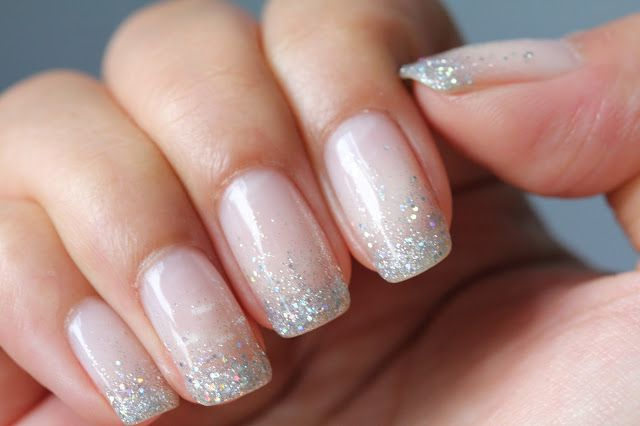 Glitter Waterfall Shellac Nails - LOVE!