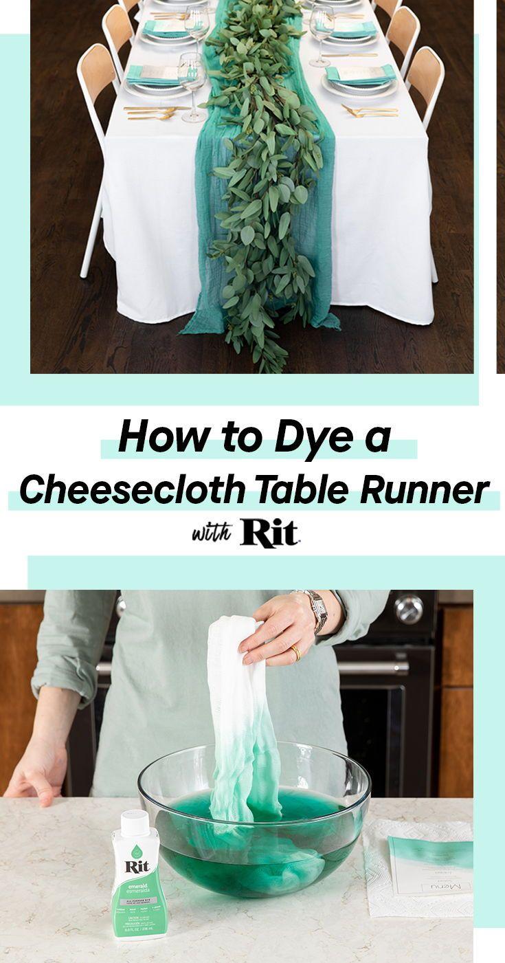 Dyed Table Runner Napkins And Menu Cards Tie Dye Diy Rit Dye Table Runner Diy