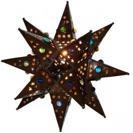 Wall Bronze Tin Star With Marbles