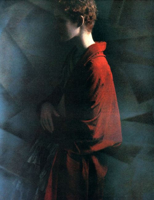 Sarah Moon: Romeo Gigli, Callaghan, American Vogue, March 1988.