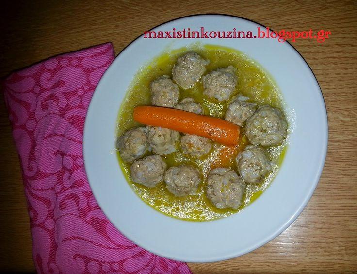 Μάχη στην κουζίνα: Γιουβαρλάκια Σούπα Με Ζωμό Λαχανικών
