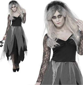 Horror-Damen-Vampir-Braut-Halloween-Kostuem-Kleid-Kostuem-Party-groesse8-10