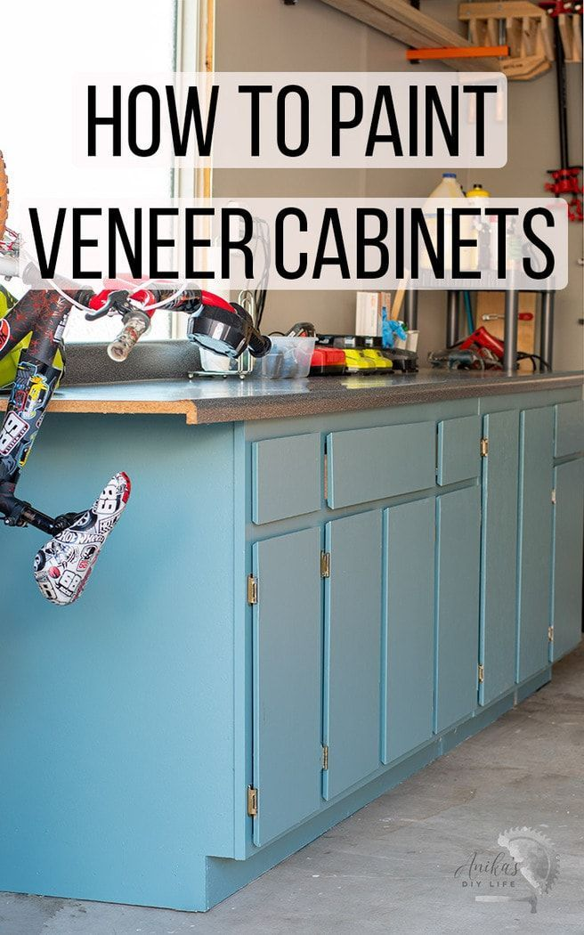 How To Paint Veneer Cabinets Diy Kitchen Decor Diy Kitchen Renovation Diy Kitchen