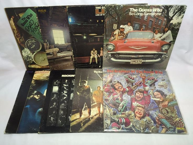 The Guess Who Record Lot Road Food Share the Land Live So Long Bannatyne ++