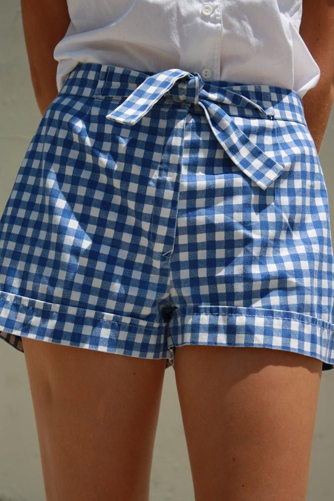 sweet gingham shorts