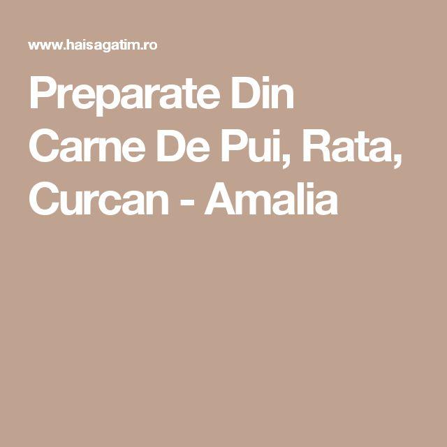 Preparate Din Carne De Pui, Rata, Curcan - Amalia