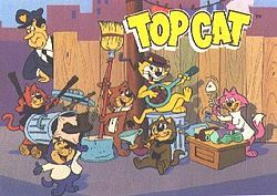 Top Cat is a Hanna-Barbera prime time animated television series which ran from September 27, 1961 to April 18, 1962 for a run of 30 episodes on the ABC network. Reruns are played on Cartoon Network's classic animation network Boomerang.