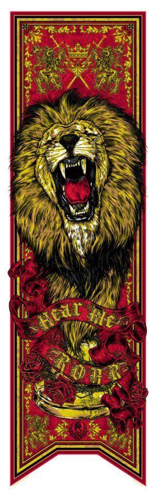 jolie bannière pour la Maison Lannister