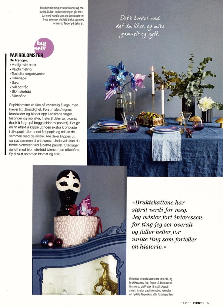 My Christmastable setting in Rom123, December edition 2016.  Photo Jorunn Tharaldsen