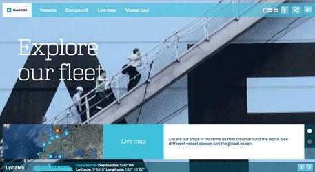 Maersk is a #website with maximum #creativity: innovative map, original descriptions and neat #design, built in HTML 5/CSS3 - designed and produced by LBi Denmark