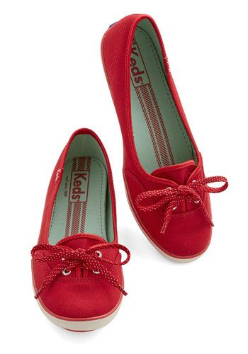 Coast of All Flat in Red, @ModCloth