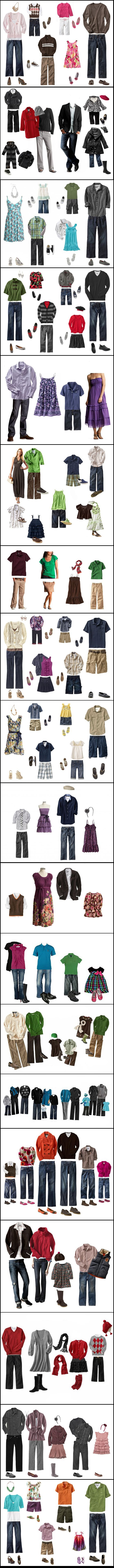 For families - coordinating outfit ideas!