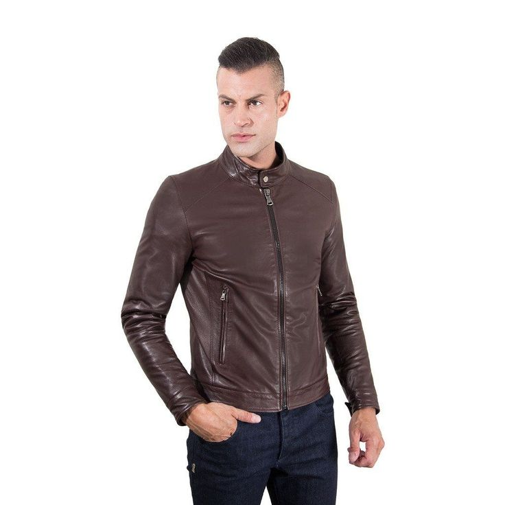 Men's Leather Jacket korean collar two pockets dark brown color Hamilton  #fashion #swag #style #stylish #socialenvy #PleaseForgiveMe #me #swagger #photooftheday #jacket #hair #pants #shirt #handsome #cool #polo #swagg #guy #boy #boys #man #model #tshirt #shoes #sneakers #styles #jeans #fresh #dope
