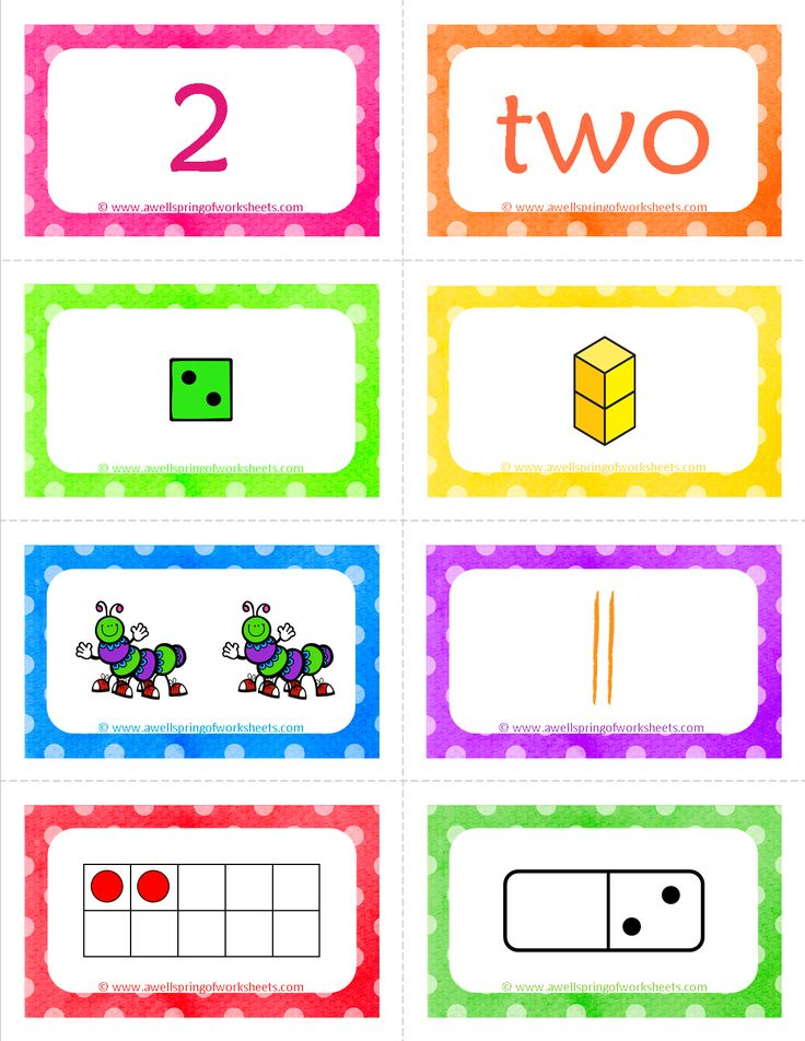 Number Cards Matching Game -  Bright colorful cards showing each number 8 different ways - numeral, number word, dice, base ten blocks, objects, tally marks, ten frames, and dominoes. This set includes numbers 1-20. Choose two or more ways to represent each number and use them in a matching game, take one color card (green dice, for example) for each number an have kids put them in number order...the things you could do with these are endless!!!