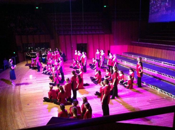 Inside the Sydney Opera House - The stage where the Australian Girls Choir shine.