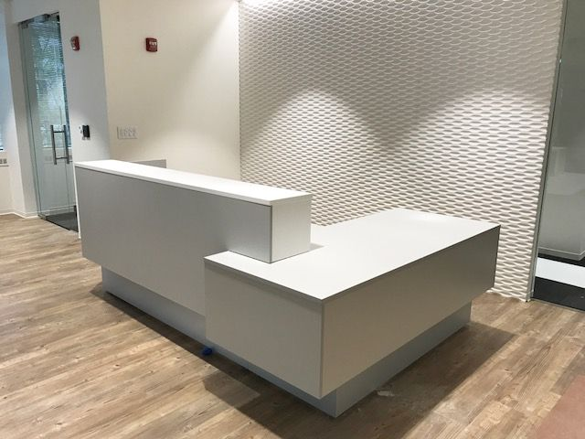 Modern Luxury Sleek Amp Elegant White Reception Desk With