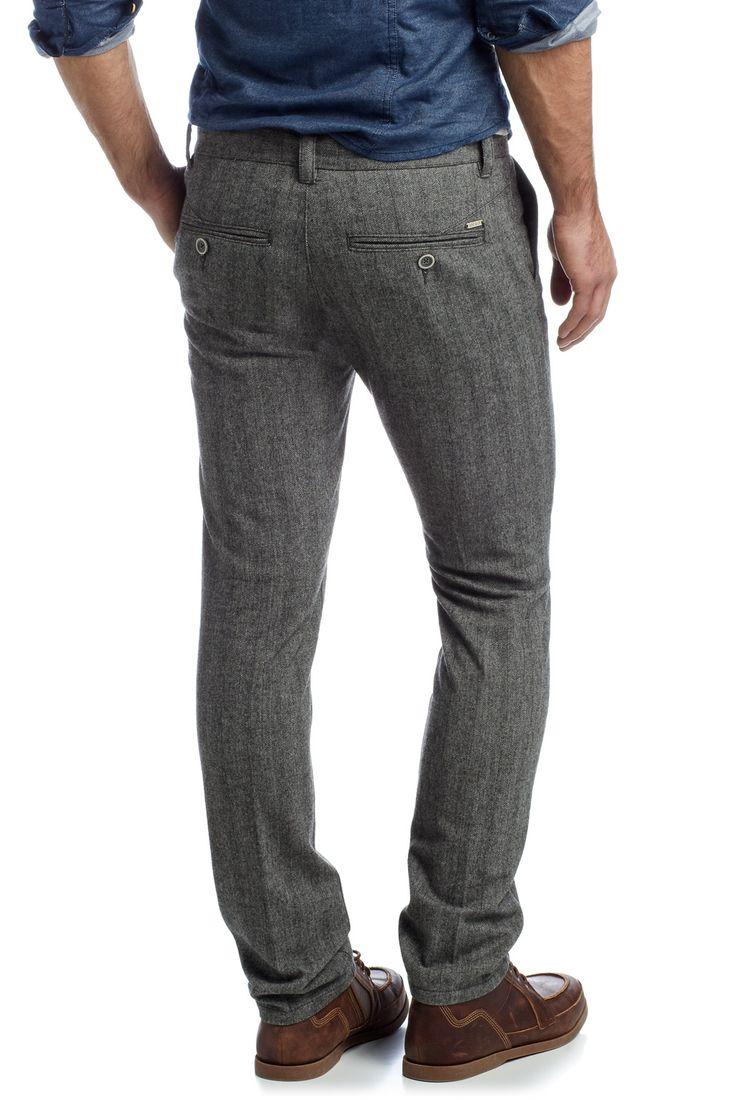 edc : Pantalon à chevrons, laine à acheter sur la Boutique en ligne