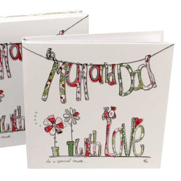 This large scrapbook makes a wonderful gift idea for Mum and Dad on their Wedding Anniversary or as a joint Christmas present. The book is big enough to hold all of their most cherished family memories and even has a space inside the front page to add the