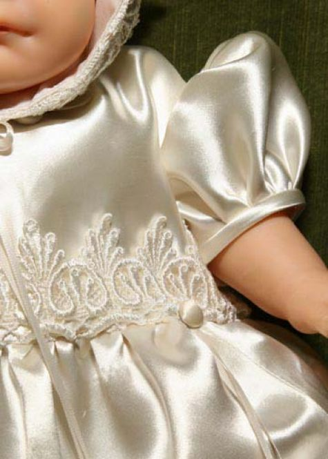 **Is your wedding gown in a box hidden in your attic? Why not reuse it in a very special way. Turn into a christening dress