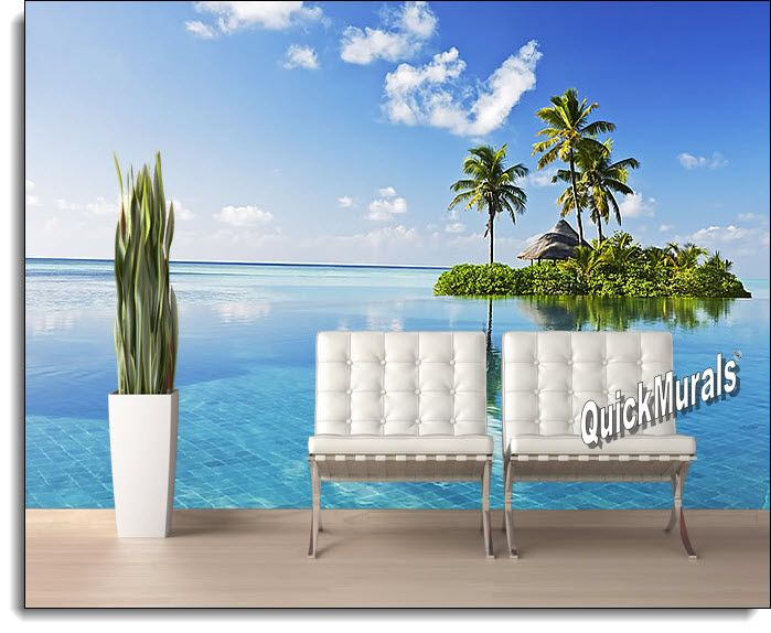 Paradise Island Peel And Stick Wall Mural Part 97