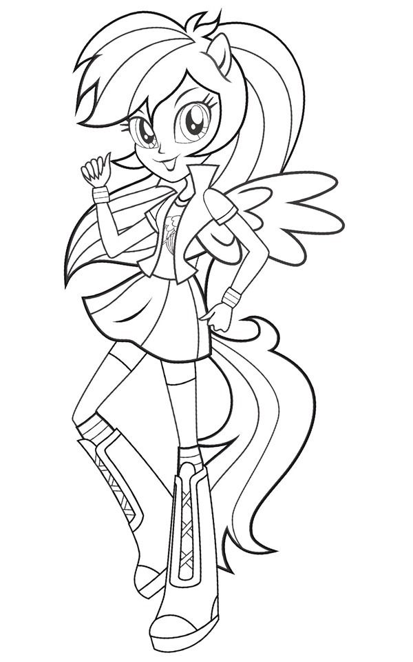 Coloriage My Little Pony Equestria Girl Rainbow Rocks My Little