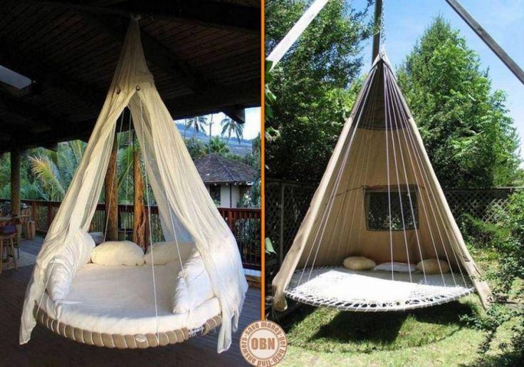 Aus einem alten Trampolin ein Hägesbett für den Garten bauen
