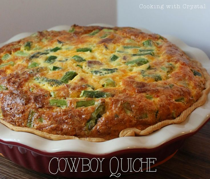 cooking with crystal: Cowboy Quiche