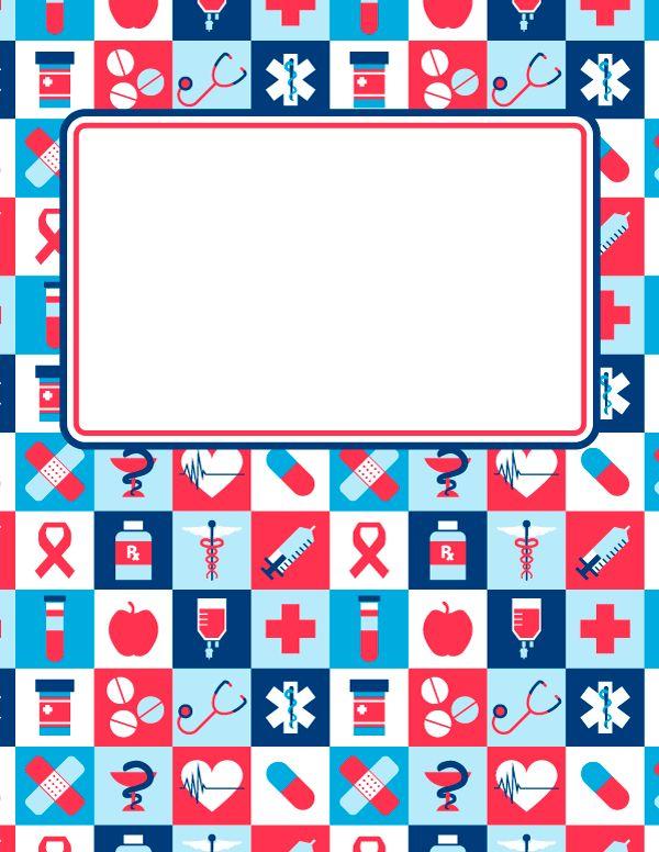 Book Cover Printable Uk ~ Free printable medicine binder cover template download