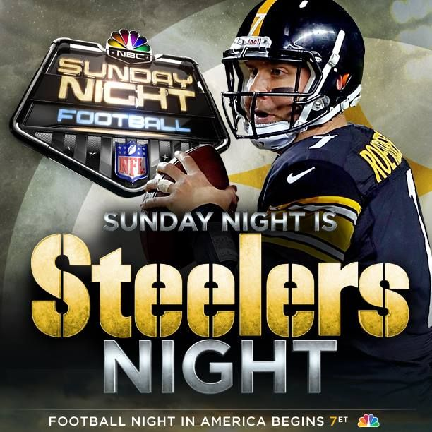 Via   The Pittsburgh Steelers  · Sept 22, 2013    It's almost time! Steelers vs. Bears on Sunday Night Football. #HereWeGo http://stele.rs/1aUuh8i