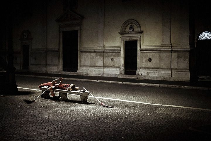 4AM Credit: Tatiana Volobueva (Russia) 4am, Rome, Italy – Break on Piazza Navona