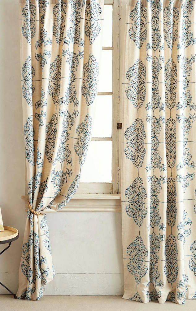 Anthropologie Curtains Are An Inexpensive Alternative To Custom Draperies Help For A Boring Room Living Home Curtains Anthropologie Curtains Curtain Designs