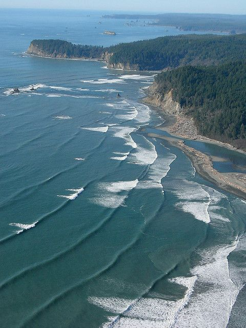 Hoh River mouth on the Pacific Ocean, Washington State by Sam Beebe, Ecotrust, via Flickr