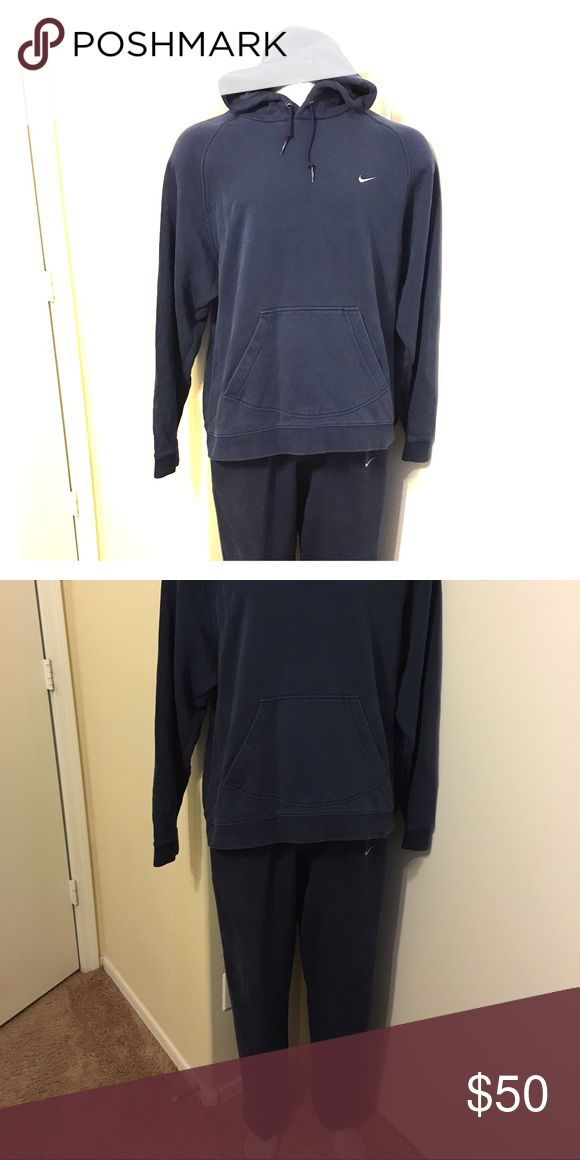 Nike sweat suit! Navy blue Nike hoody size XL and sweat pants Size M set! Nike Sweaters