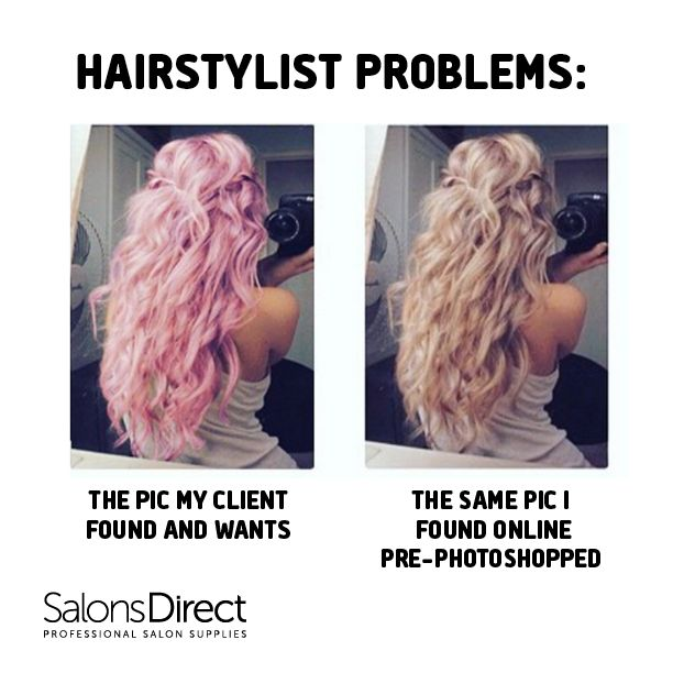YES. Hairstylist problems!